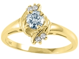 Tommaso Design™ Genuine Aquamarine Ring style: 25664
