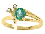 Tommaso Design™ Genuine Emerald and Diamond Ring style: 25675