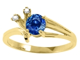Tommaso Design™ Genuine Sapphire and Diamond Ring style: 25676