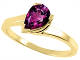 Tommaso Design™ Pear Shape 7x5mm Genuine Rhodolite Ring