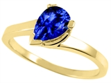 Tommaso Design™ Pear Shape 7x5mm Created Sapphire Ring