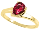 Tommaso Design™ Pear Shape Created Ruby Ring