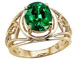 Tommaso Design™ Oval 10x8 mm Simulated Emerald Ring style: 25943