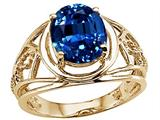 Tommaso Design™ Large Oval 10x8mm Created Sapphire Ring style: 25944