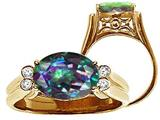 Tommaso Design™ Oval 10x8 mm Mystic Rainbow Topaz Ring style: 25977