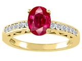 Tommaso Design™ Created Ruby and Diamond Solitaire Engagement Ring
