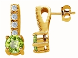 Original Star K™ Genuine Peridot Earrings