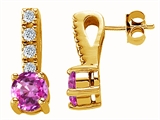 Original Star K Created Pink Sapphire Earrings