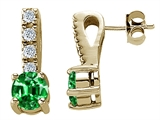 Original Star K™ Simulated Emerald Earrings