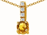 Original Star K Genuine Citrine Pendant