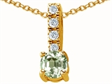 Original Star K™ Genuine Green Amethyst Pendant