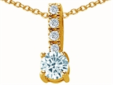 Original Star K™ Genuine Aquamarine Pendant