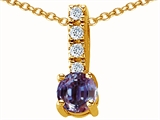 Original Star K™ Simulated Alexandrite Pendant