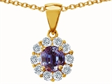 Original Star K™ Simulated Round Alexandrite Pendant