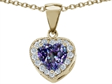 Original Star K™ Simulated Heart Shaped Alexandrite Pendant