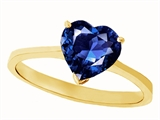 Tommaso Design™ Created Sapphire Heart Shape 8mm Solitaire Engagement Ring