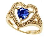 Tommaso Design™ Heart Shape 6mm Created Sapphire Ring style: 28653