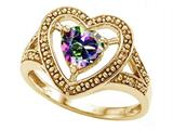 Tommaso Design™ Heart Shape 6mm Mystic Rainbow Topaz Ring style: 28654
