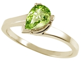 Tommaso Design™ Pear Shape 7x5mm Genuine Peridot Ring