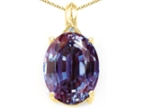 Tommaso Design Simulated Oval Alexandrite and Diamond Pendant