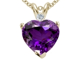 Tommaso Design™ Genuine 8mm Amethyst Heart Pendant style: 302173