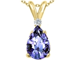 Tommaso Design™ Genuine Tanzanite and Diamond Pendant style: 302344
