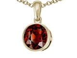 Tommaso Design Genuine Round Garnet Pendant