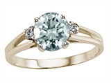 Tommaso Design™ Genuine Aquamarine and Diamond Ring style: 303844