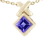 Tommaso Design™ 6mm Square Cut Genuine Iolite Pendant