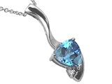 Tommaso Design™ Trillion Cut Genuine Blue Topaz Pendant