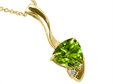 Tommaso Design Trillion Cut Genuine Peridot Pendant