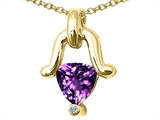 Tommaso Design™ Trillion Cut Genuine Amethyst Pendant