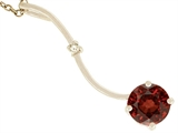 Tommaso Design 7mm Round Genuine Garnet Pendant