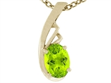 Tommaso Design Oval Genuine Peridot Pendant