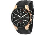 Officina Del Tempo Sail II 45mm Chronograph Rose PVD Gel  Band (OT1029/161N) Made in Italy style: OT1029161N
