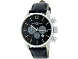 Officina Del Tempo Style Minimal 46mm Chronograph Leather Band (OT1033/1100N) Made in Italy style: OT10331100N