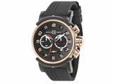 Officina Del Tempo Block 46mm Chronograph Gel Band Rose PVD (OT1034/161NGN) Made in Italy style: OT1034161NGN