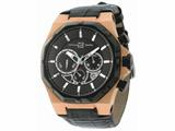 Officina Del Tempo Race II 42mm Chronograph Leather Band  Rose PVD (OT1041/1600N) Made in Italy