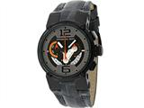Officina Del Tempo Racing 44mm Chronograph Leather Band Black PVD (OT1051/1240GOG) Made in Italy
