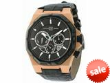 Officina Del Tempo Race II 42mm Chronograph Leather Band  Rose PVD (OT1041/1600N) Made in Italy style: OT10411600N