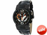 Officina Del Tempo Racing 44mm Chronograph Leather Band Black PVD (OT1051/1240NON) Made in Italy style: OT10511240NON