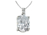 Zoe R White CZ Pendant with Diamond