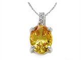 Zoe R Fancy Yellow CZ Pendant with Diamond