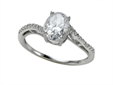 Zoe R™ White CZ Engagement Ring with Diamonds style: 670007