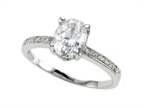 Zoe R™ White CZ Engagement Ring with Diamonds style: 670010