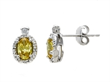 Zoe R™ Fancy Yellow Signity by Swarovski Cubic Zirconia (CZ) Earrings with Diamonds style: 670012Y