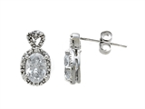 Zoe R White Gold Signity by Swarovski Cubic Zirconia (CZ) Earrings with Diamond