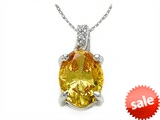 Zoe R™ Fancy Yellow CZ Pendant with Diamond style: 670006Y
