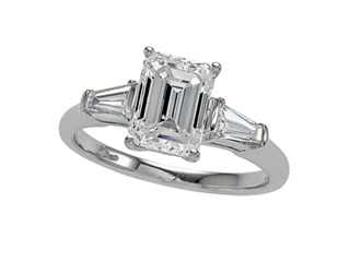 White Gold Engagement Ring by Zoe R(tm) with Signity by Swarovski Cubic Zirconia (CZ)