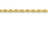 18 Inch 14k 5.5mm Diamond Cut Rope With Lobster Clasp Chain style: 040L18